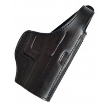 Lined Leather Belt Holster with Belt Tunnel