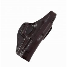 Leather Belt Gun Holster with Belt Tunnel