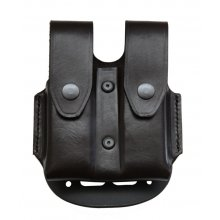 Closed Double Leather Magazine Pouch with Paddle