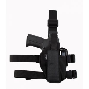 Nylon Tactical Gun Holster with Extra Mag