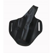 Comfortable Leather Belt Holster, Closed Muzzle