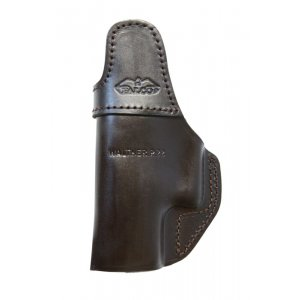 IWB Leather Gun Holster with Clip, no Thumb Break