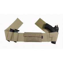 Double Secured Elastic Belly Band Gun Holster