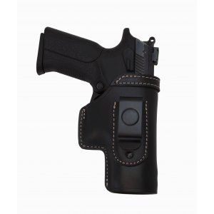 IWB Concealed Leather Gun Holster with Steel Clip