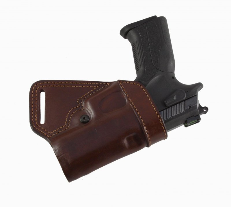 Small of Back Leather Belt Gun Holster   Falco