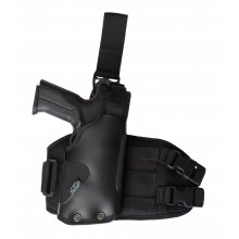 Tactical Drop Leg Holster for Gun with Light on Leg Platform