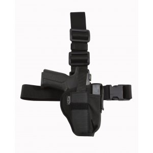Tactical Leg and Belt Gun Holster with Extra Mag Pouch