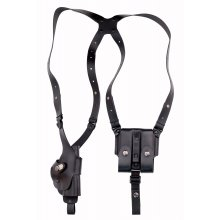 Roto-shoulder Holster with Double Magazine Pouche
