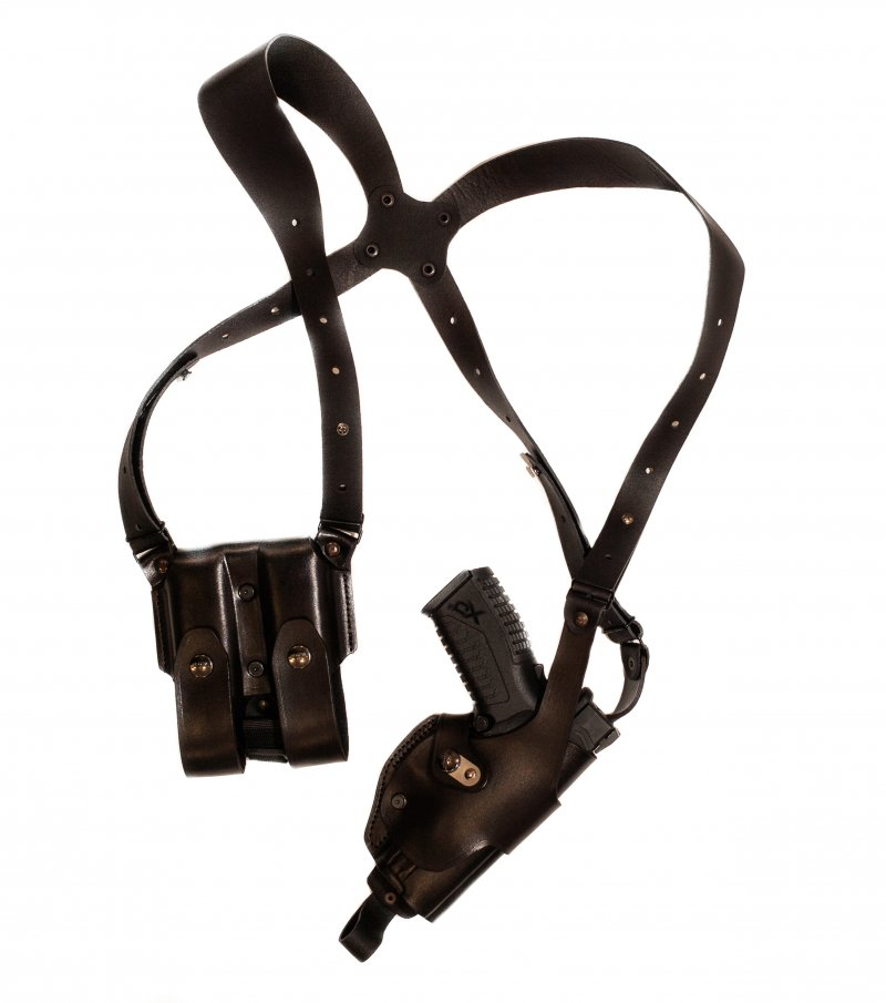 Roto-shoulder Holster with Double Magazine Pouch