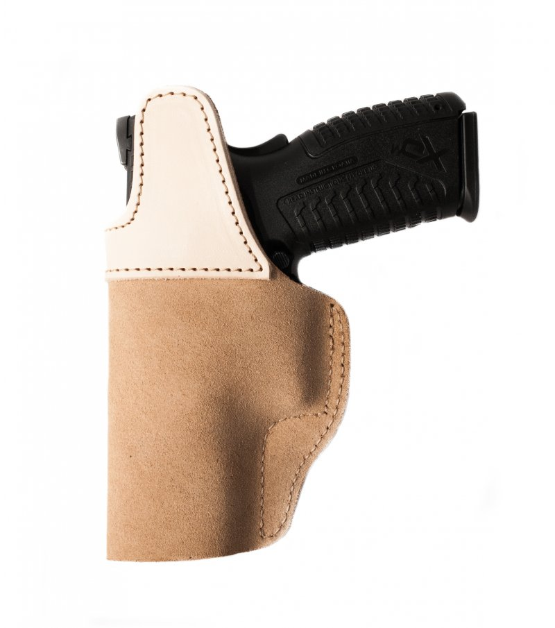Suede IWB Open Top Holster with Steel Clip