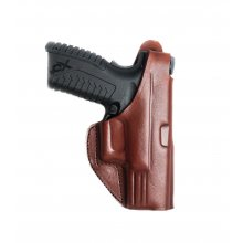Leather Belt Gun Holster with Steel Clip