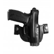Side Snap Leather Belt Gun Holster