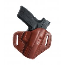 Open Top Leather Belt Gun Holster