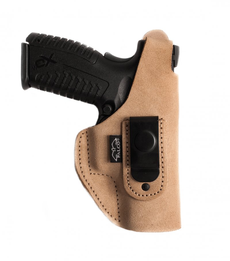 Suede IWB Holster with Steel Clip