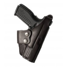 Cross Draw Leather Belt Gun Holster