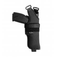 Vertical Nylon Shoulder Holster, Open Top, Close Muzzle