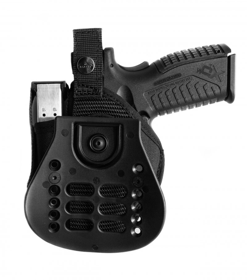 $ 46 95, | Nylon Holster with Paddle and Integrated Magazine Case