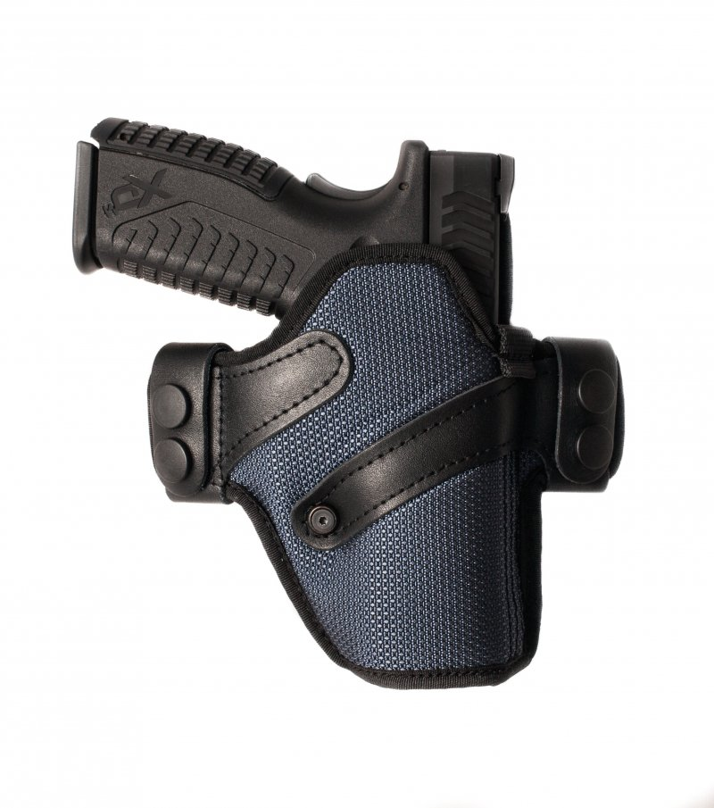 Exclusive Nylon Holster with leather belt straps