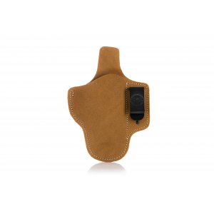 Pancake style IWB concealed open top leather holster