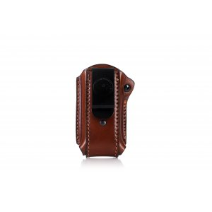 IWB clip on magazine leather pouch with retention screw