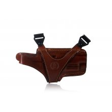 Horizontal leather shoulder holster