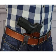 Comfortable IWB concealed open top leather holster