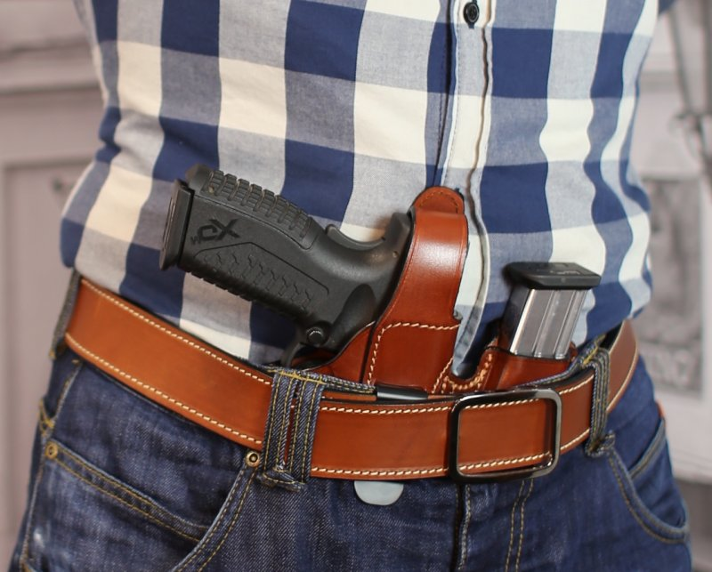 From $ 29 95, | Appendix carry concealed open top leather holster with  magazine pouch