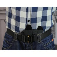 Appendix carry Kydex holster with magazine pouch