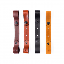 Tie-down leather strap (2pcs)