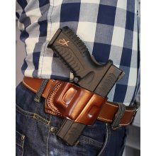 Quick draw slim OWB leather holster