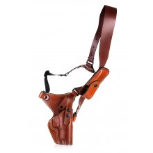 Alaskan style chest leather holster