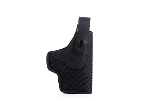 Slim design OWB nylon holster with front security strap