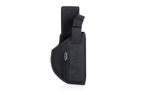 Duty nylon OWB holster with lowered carry position