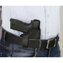 Compact IWB concealed open top nylon holster