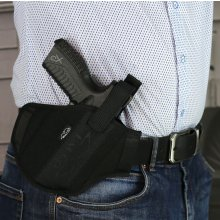 Nylon OWB holster for guns with light
