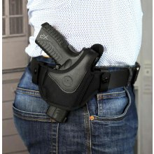 Open muzzle OWB nylon holster with thumb break