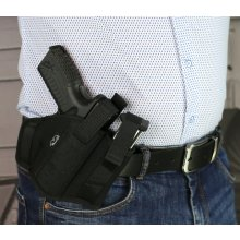 Nylon OWB holster with mag holder