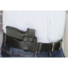 IWB concealed open top nylon holster with belt straps