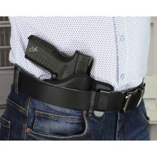 Pancake style IWB concealed open top nylon holster