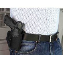 Paddle OWB open barrel nylon holster with adjustable retention