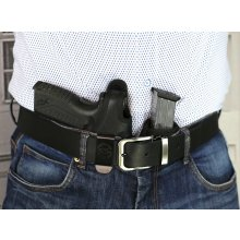 Secured appendix carry nylon holster with magazine pouch