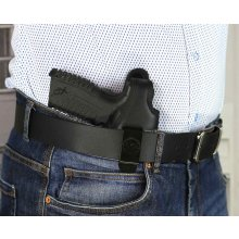 Secured IWB concealed leather nylon holster with thumb break