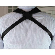 Cross shoulder harness with adjustable arms
