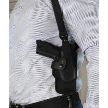 Vertical nylon shoulder holster