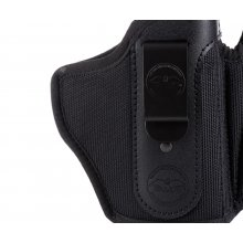 Appendix carry concealed open top nylon holster with magazine pouch
