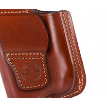 Slim design secured OWB leather holster for guns with light