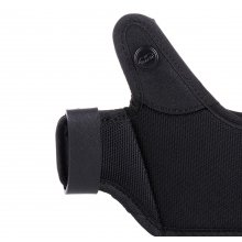 Easy on open barrel OWB nylon holster with thumb break