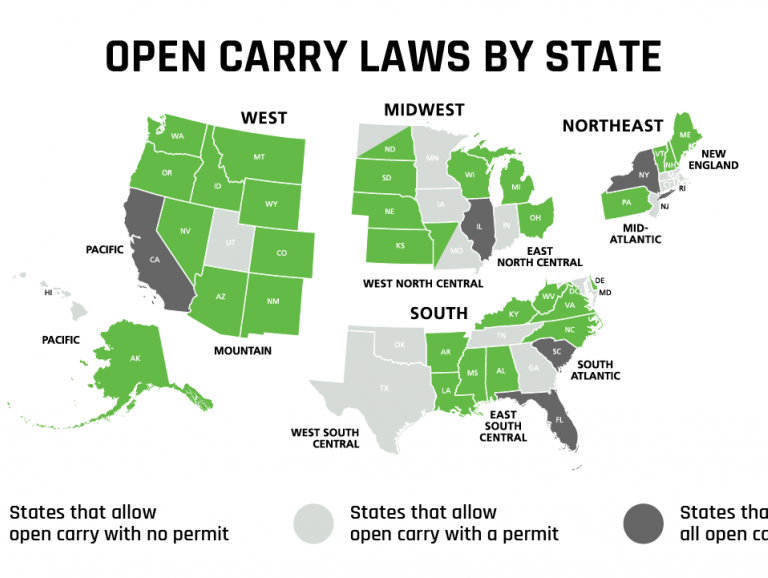 Guide to Open and Concealed Carry Laws Across the Nation