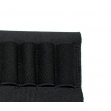 Elastic cartridge holder for over and under barrel shotgun combination