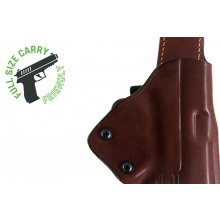 Open barrel quick draw OWB leather holster with security lock